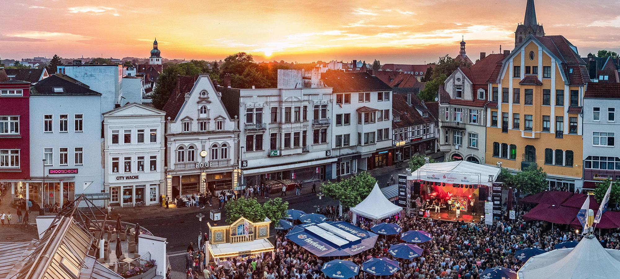 Höcker Fest 2017 Panorama © D. Karabasch im Auftrag der Pro Herford GmbH